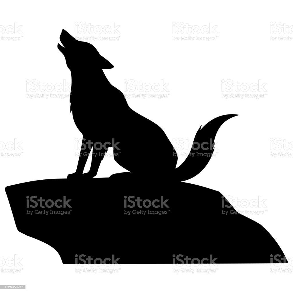 Heulender Wolf Vorlage - Vorlagen zum Ausmalen gratis