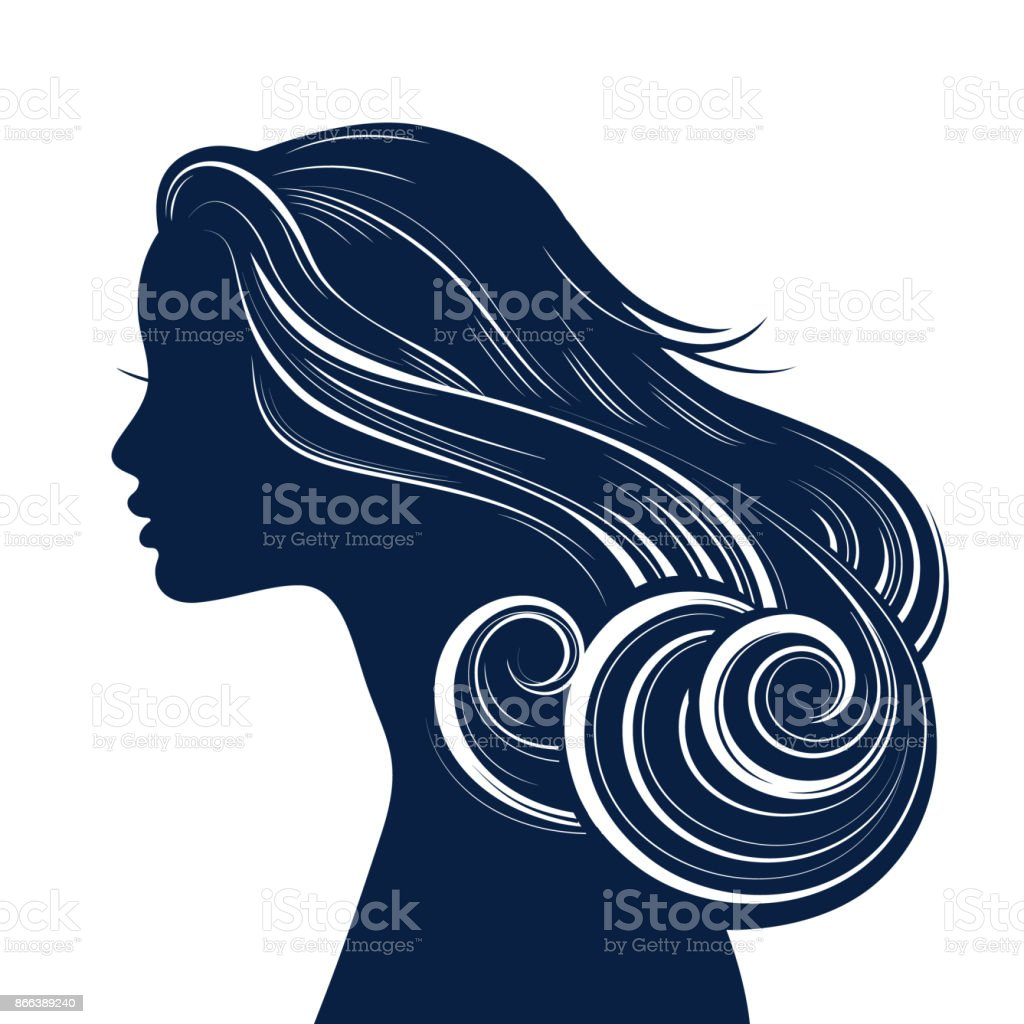 royalty free wavy hair clip art