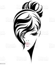 women bun hair style icon