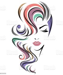 hair clip clipart face background vector illustration salon abstract long icon female illustrations drawing graphic arts graphics artwork similar