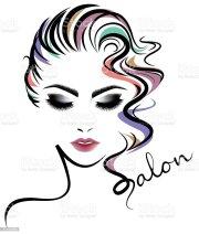 women hair style icon logo
