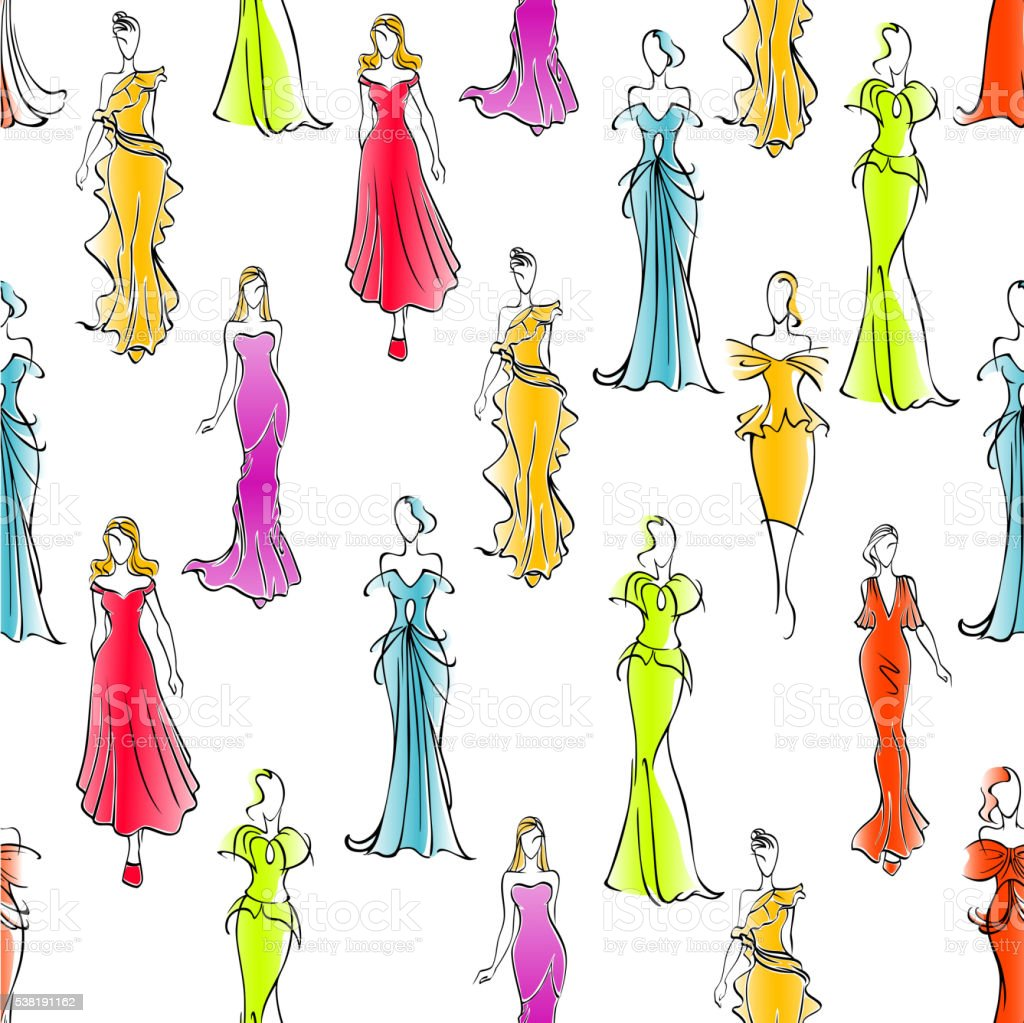 prom dress illustrations