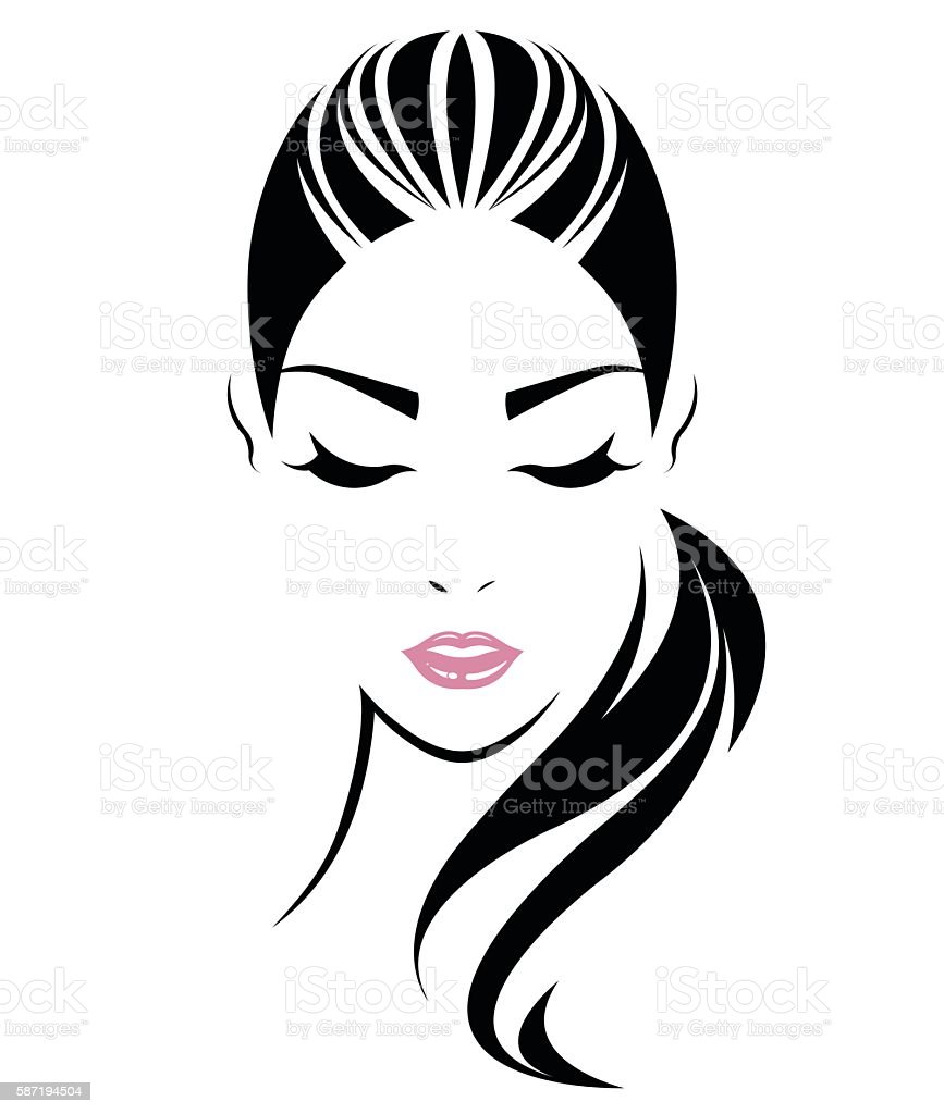 ponytail illustrations royalty-free