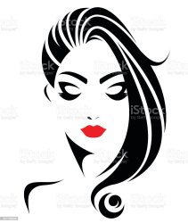 face vector hair icon long illustration hairstyle abstract background stylish elegant painted format human istock vectors