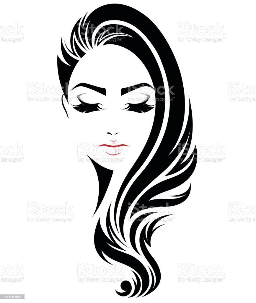 black hair clip art vector