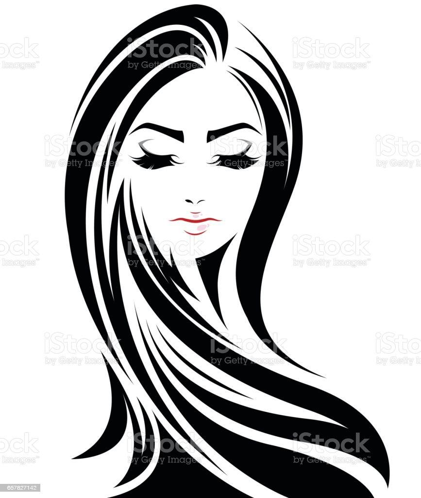 black hair illustrations