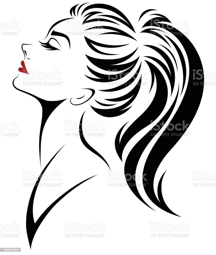 ponytail illustrations royalty-free