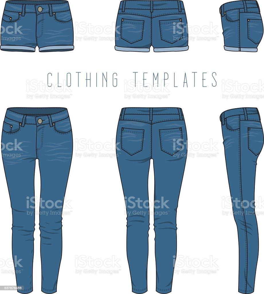 best denim jeans illustrations