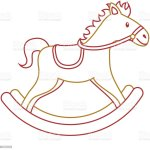 Wooden Horse Toy Rocking Game Icon Stock Illustration Download Image Now Istock