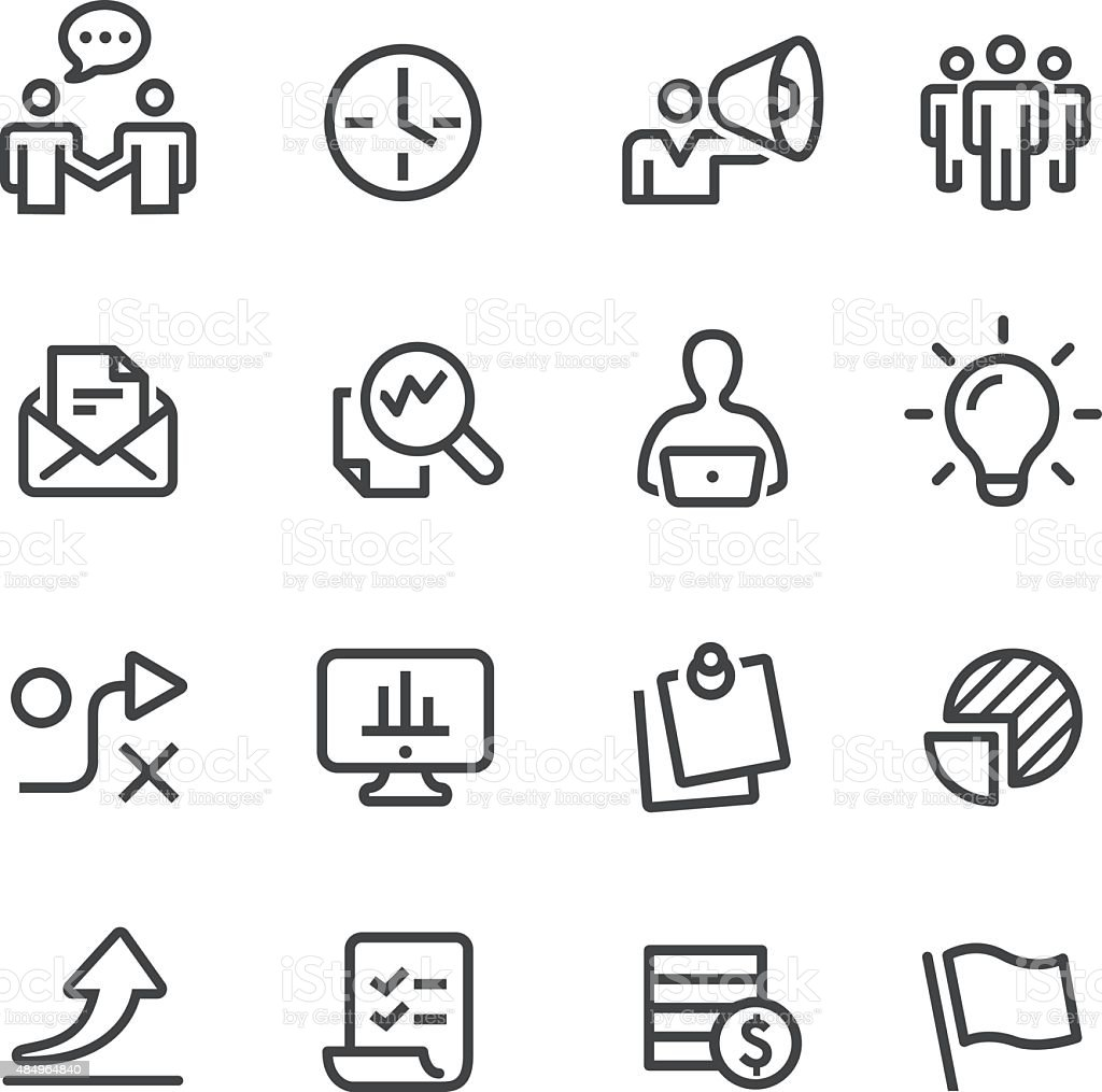 Workflow Icons Line Series Stock Vector Art & More Images