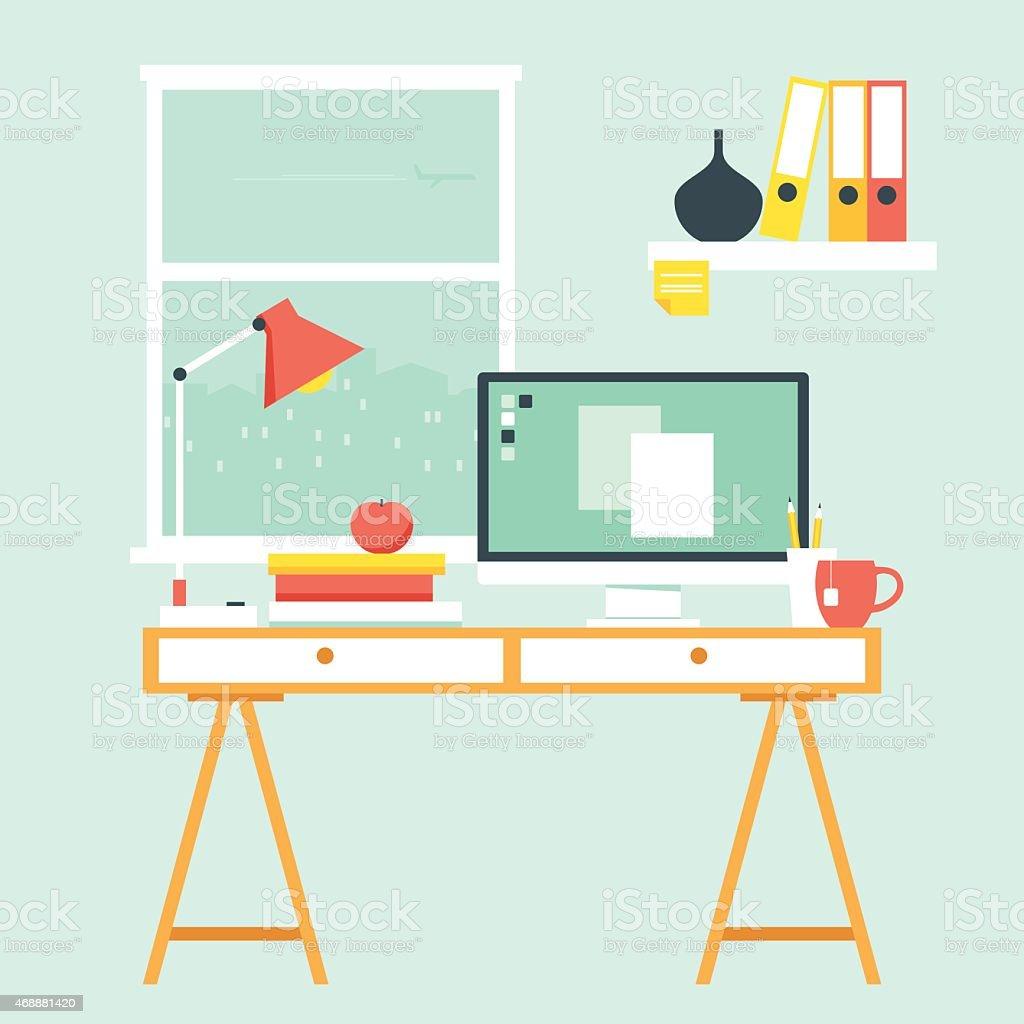 home office clip art vector