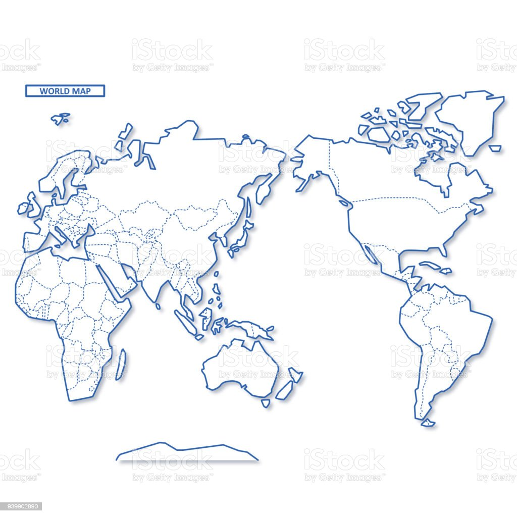 世界空白地圖向量圖形及更多世界地圖圖片 - iStock