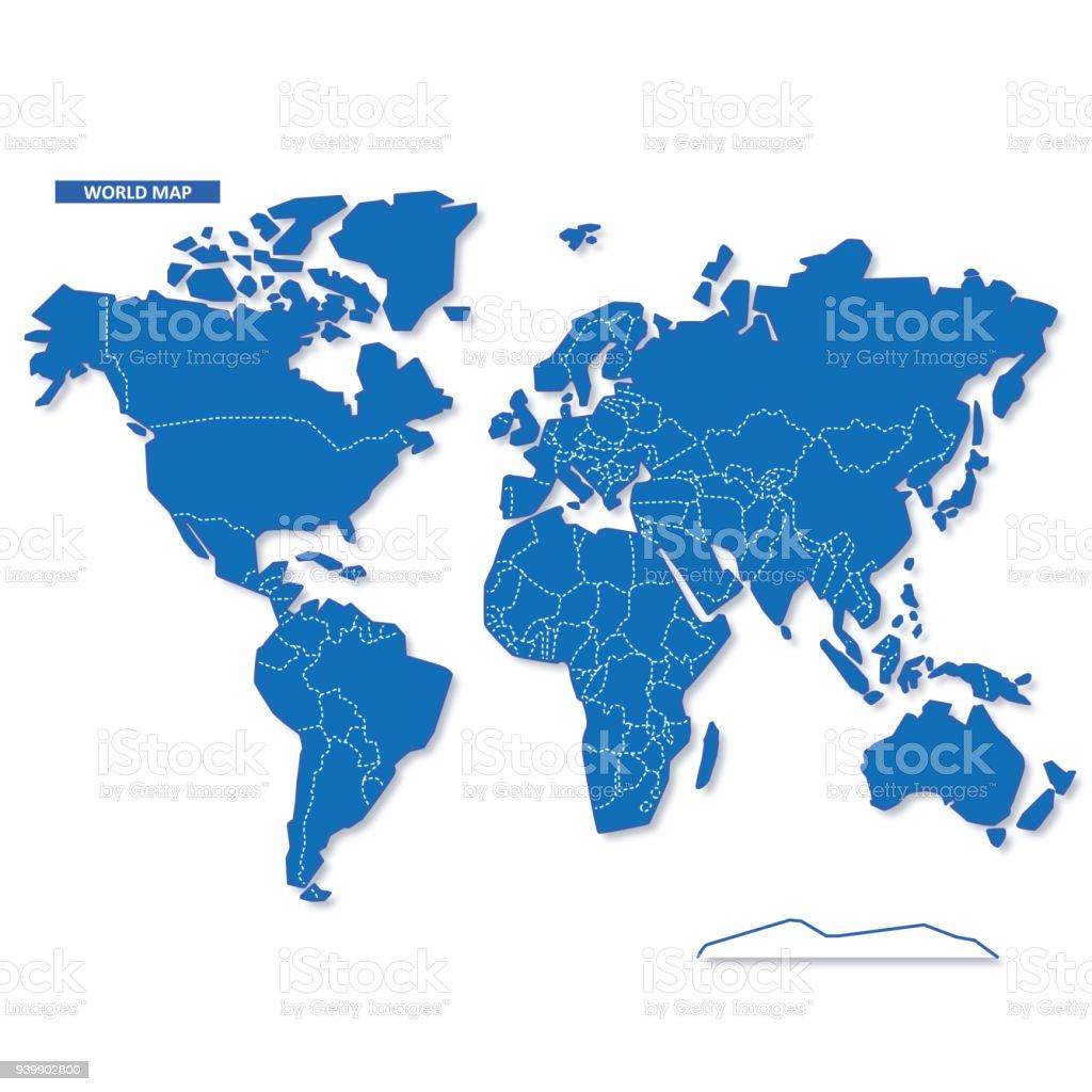 世界地圖向量圖形及更多世界地圖圖片 - iStock