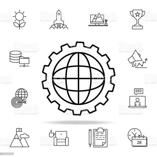 small resolution of world mechanism icon startup icons universal set for web and mobile royalty free world