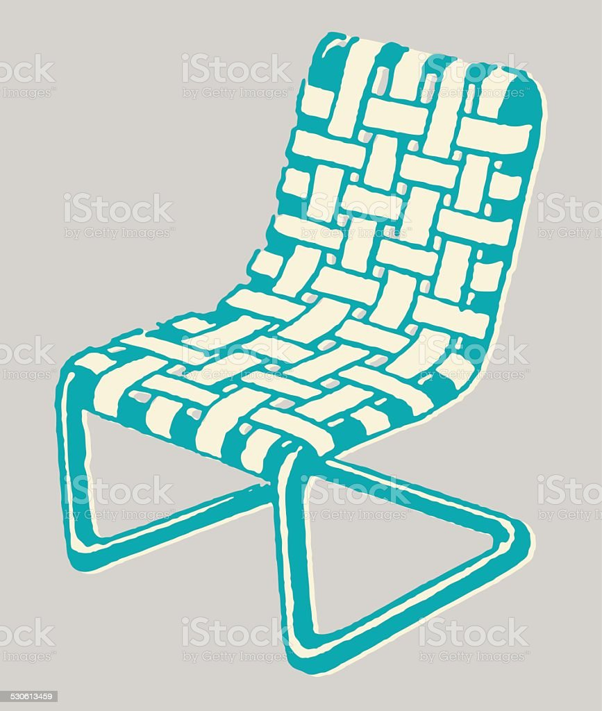Woven Lawn Chair Woven Lawn Chair Stock Vector Art More Images Of Furniture Istock