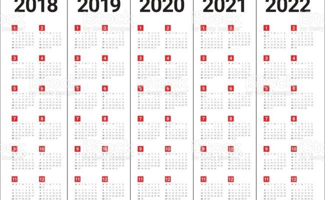 2018 2019 2020 2021 2022 年カレンダー ベクトル のイラスト素材 847541218