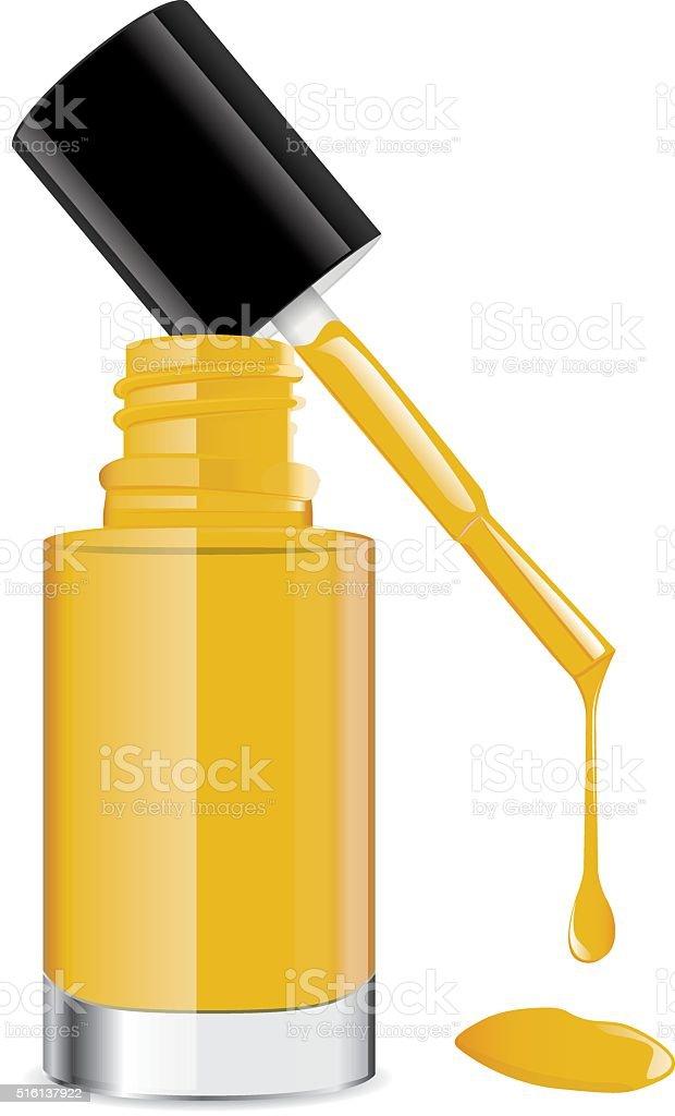 royalty free yellow nail polish