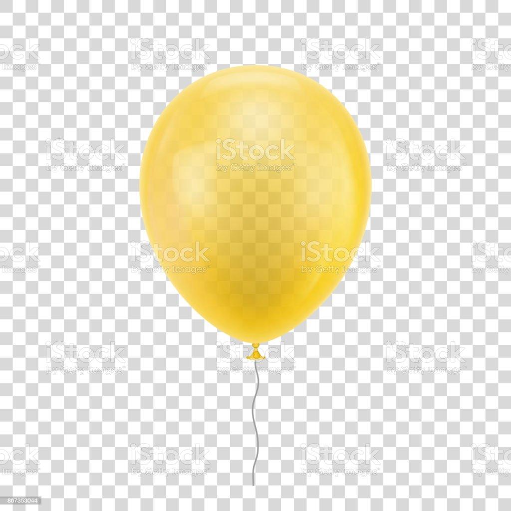 royalty free yellow balloons clip