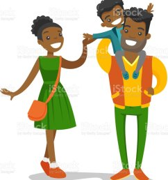 young african american family strolling royalty free young africanamerican family strolling stock illustration  [ 1024 x 1024 Pixel ]