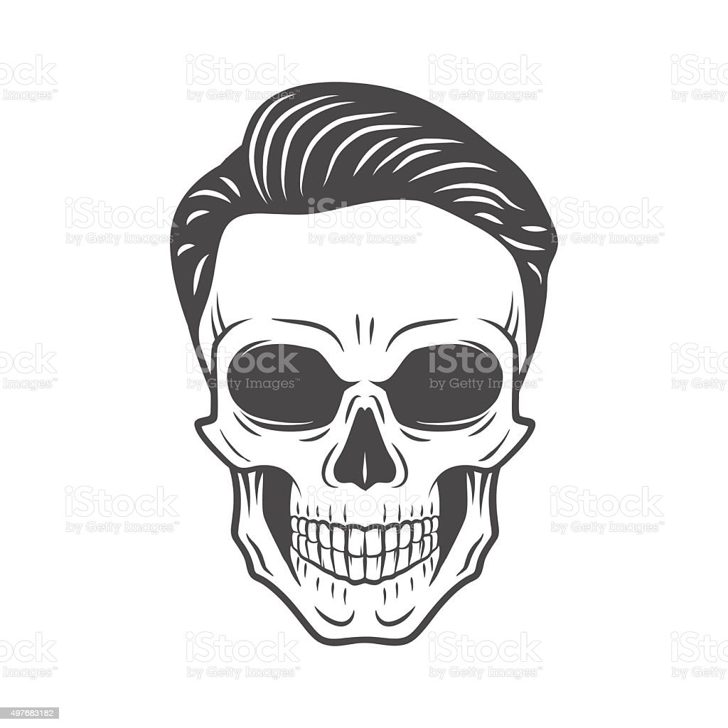 young stylish skull with hipster