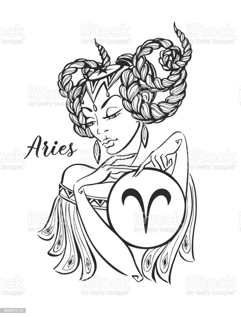 Zodiac Sign Aries As A Beautiful Girl Horoscope