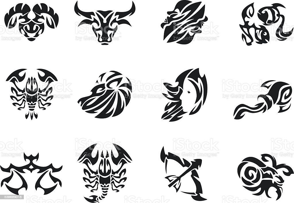 Ilustración De Zodiaco Señales Tatuaje De Juegos Hombres Tatuaje
