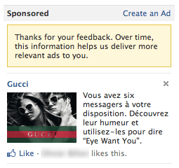 Facebook Like Publicité