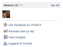 Utiliser votre Page en tant que profil