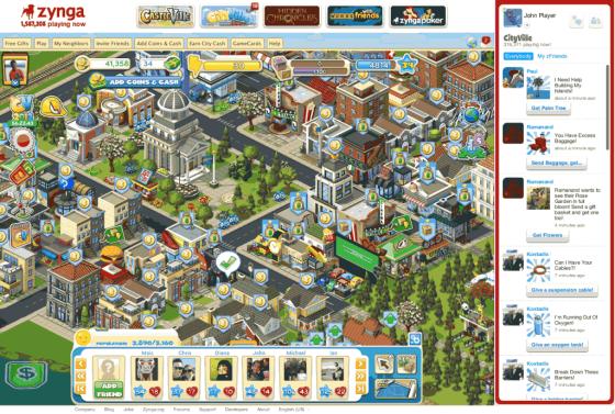 Aperçu du jeu CityVille sur Zynga.com