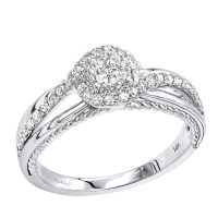 Cheap Engagement Rings Cluster Diamond Promise Ring for