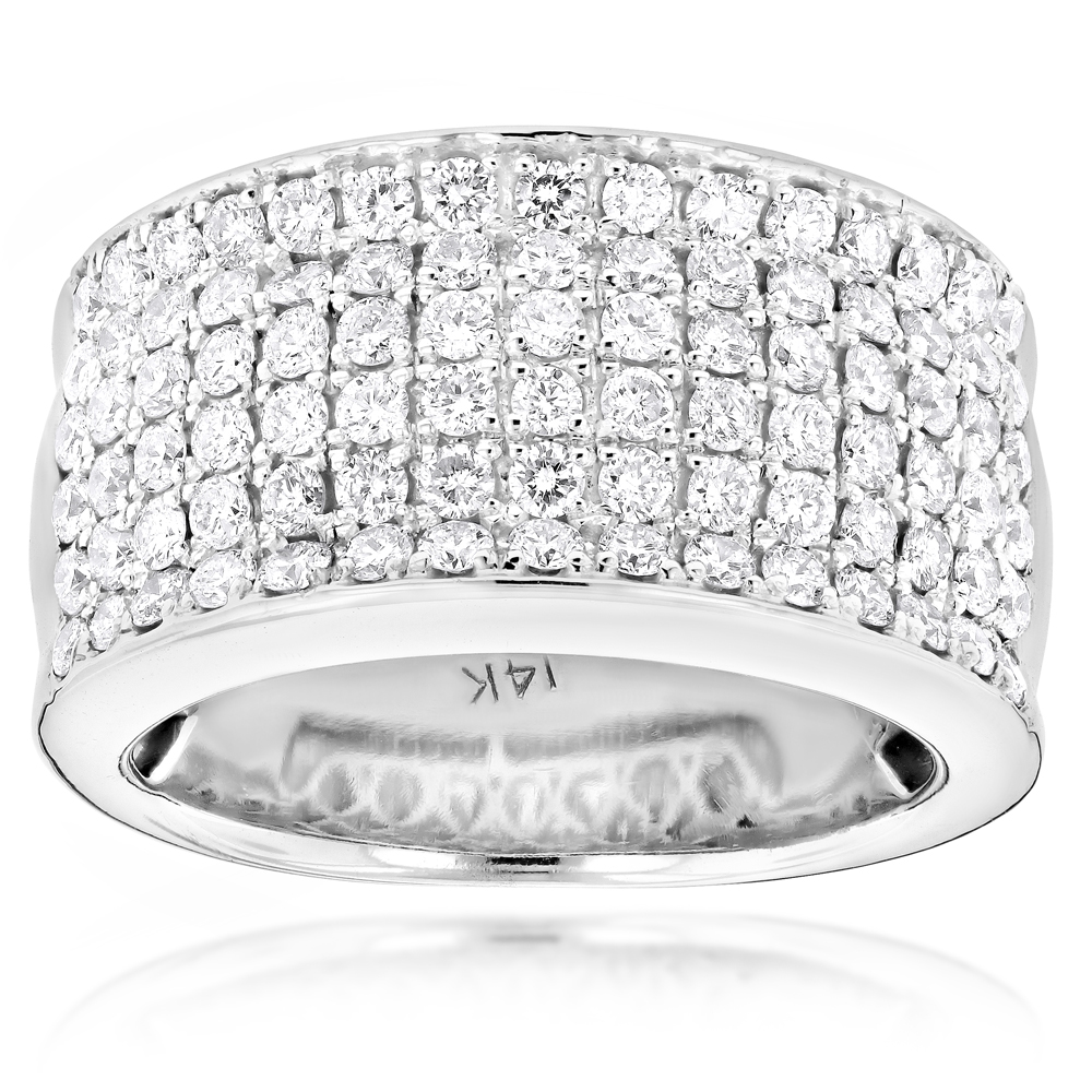 14K Gold Mens Designer Diamond Wedding Band 205ct