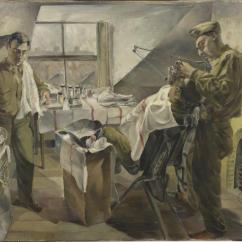 Chair Design Research Aluminum Patio Chairs 16th Us Medical Regiment : Field Dental Service Operating During An Attack (art.iwm Art Ld 2735)