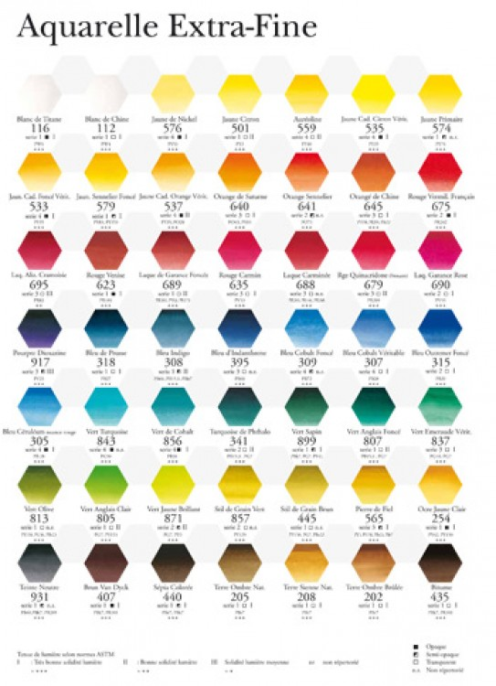 Sennelier French Artists' Watercolor Half Pans and Sets