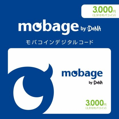 Mobage MobaCoin Card 3000 JPY