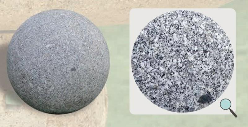 boule decorative en granit pour le jardin