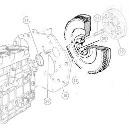 Jeep Grand-Cherokee ZJ, plateau, disque, butée, volant