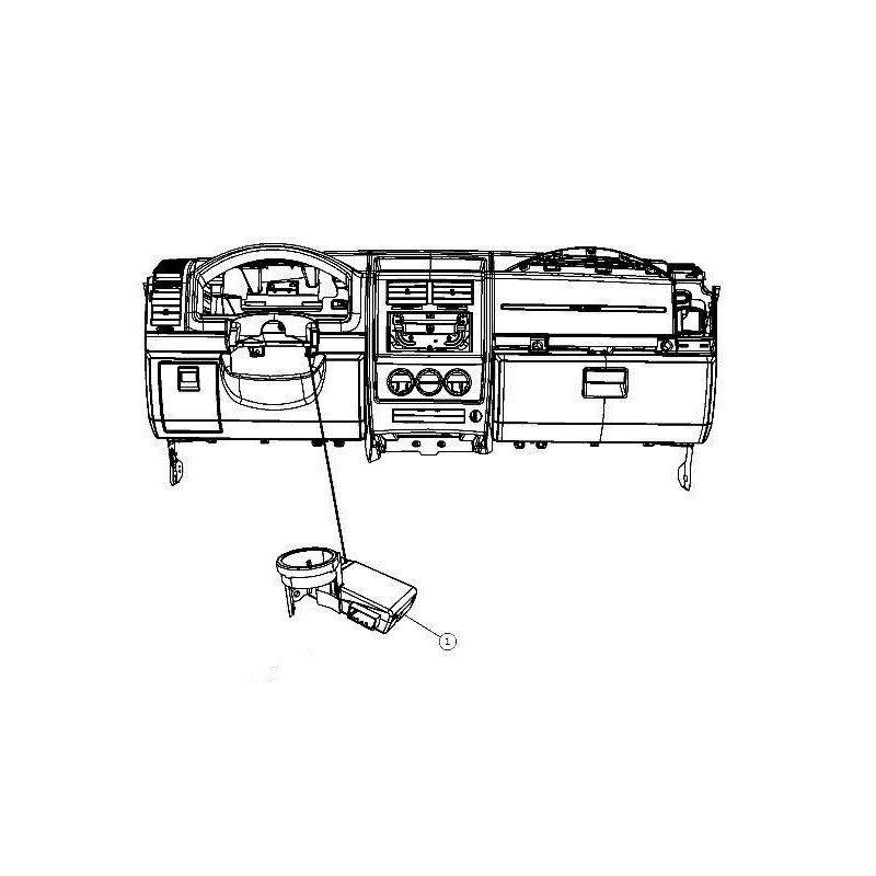 Transpondeur de clef (SKIM) Jeep Wrangler JK 2008-2011
