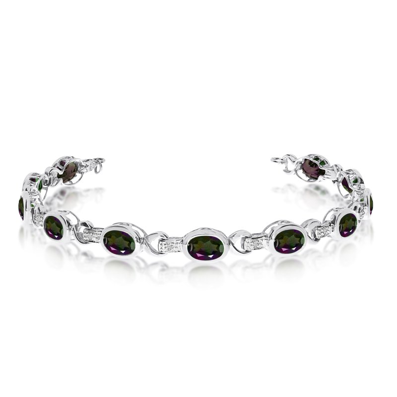 Marshall Jewelry: Color Merchants 14K White Gold Oval