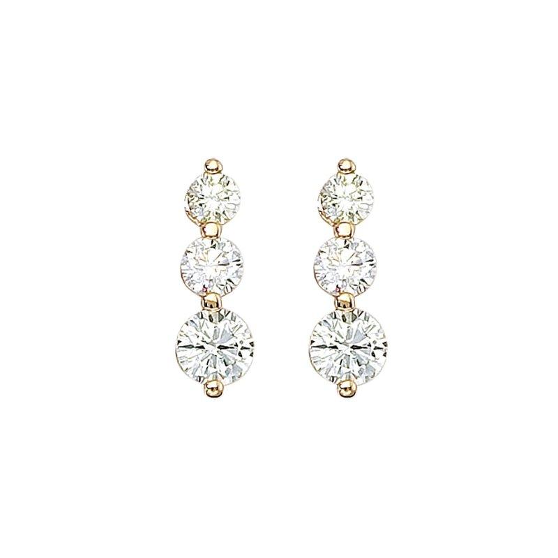 KP Jewelers: Color Merchants 14k Yellow Gold 2 ct 3 Stone