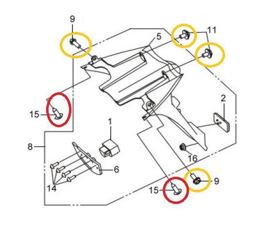 [Tuto] Démontage bavette arrière (support de plaque) SYM