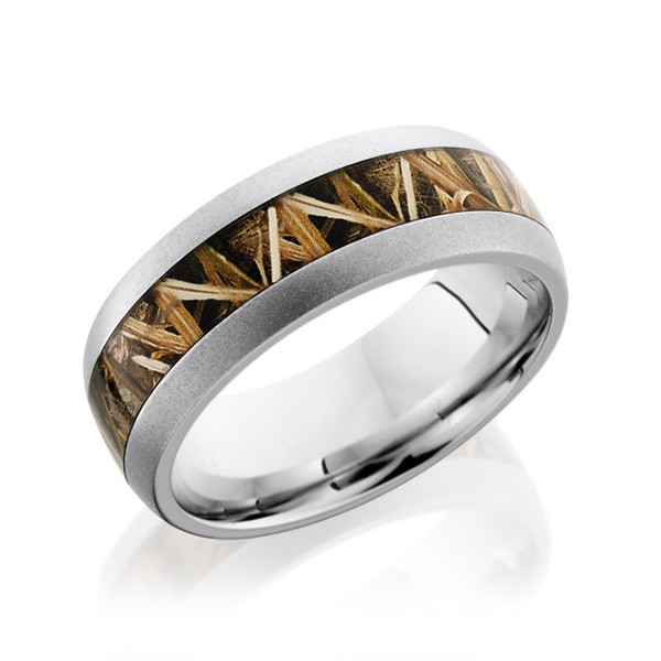Lashbrook 8mm Cobalt Chrome And Camouflage Mens Ring