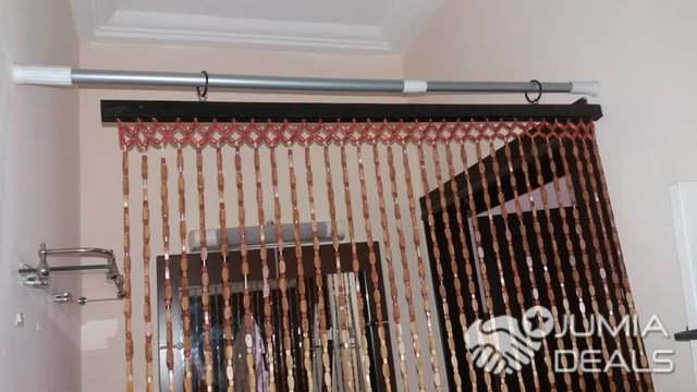 rideau de perles plus tringle