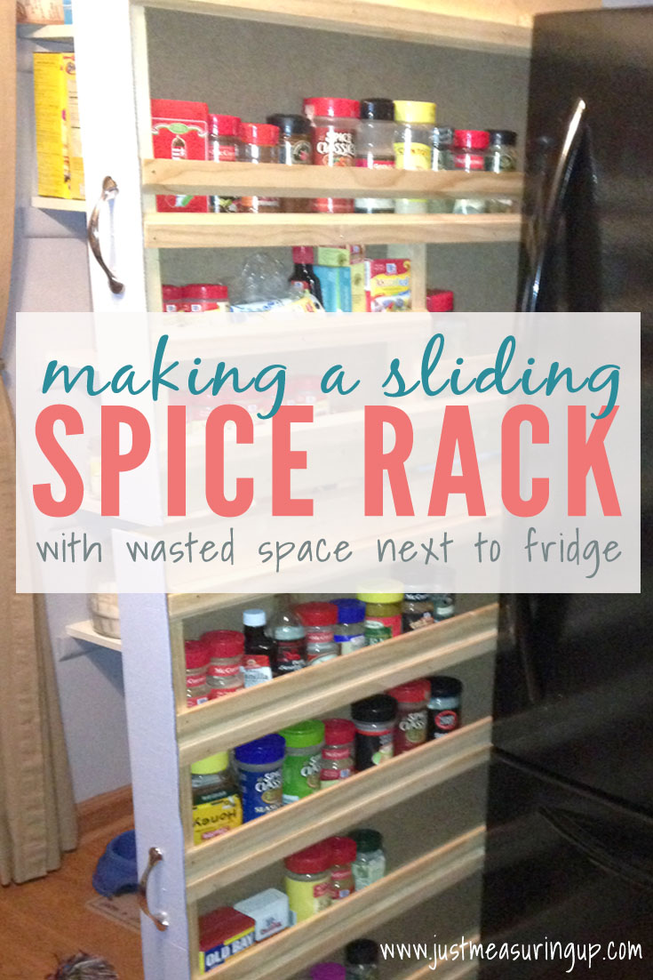 how to build a sliding spice rack