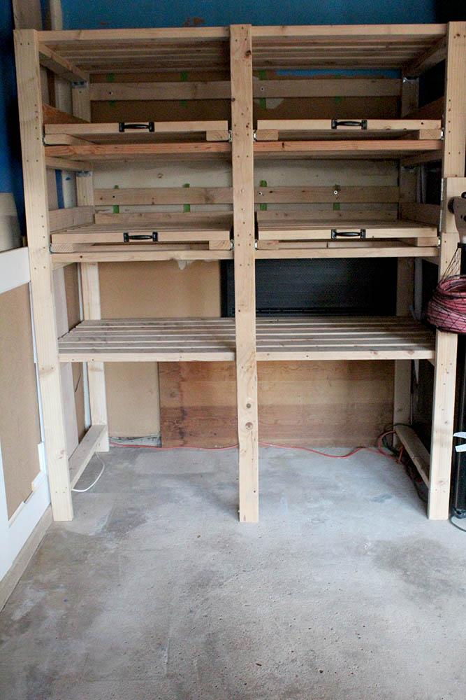 sliding storage shelves how to make