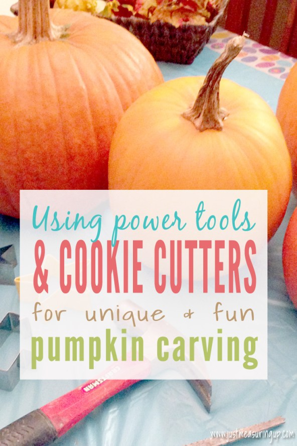 Pumpkin Carving with Cookie Cutters & Drills by Just Measuring Up