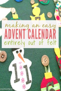 How to Make an Advent Calendar out of Felt