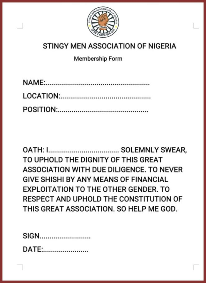 How to download Stingy Men Association ID card and Form 2