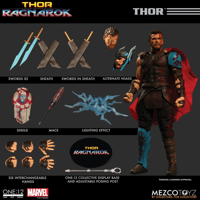 Mezco One12 Collective Thor Ragnarok Thor Action Figure