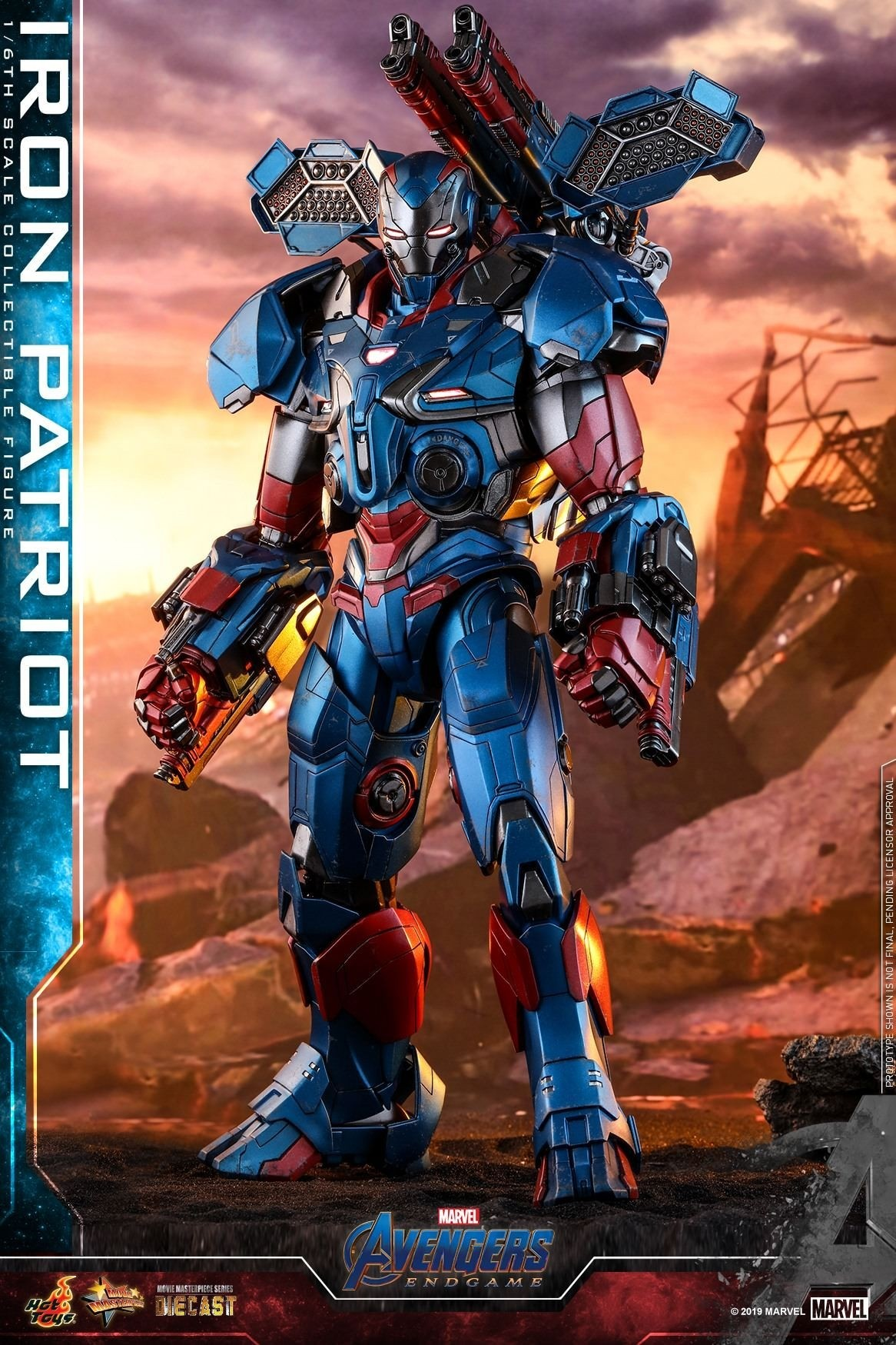 Hot Toys Avengers Endgame Iron Patriot Mms547 D34 1 6th