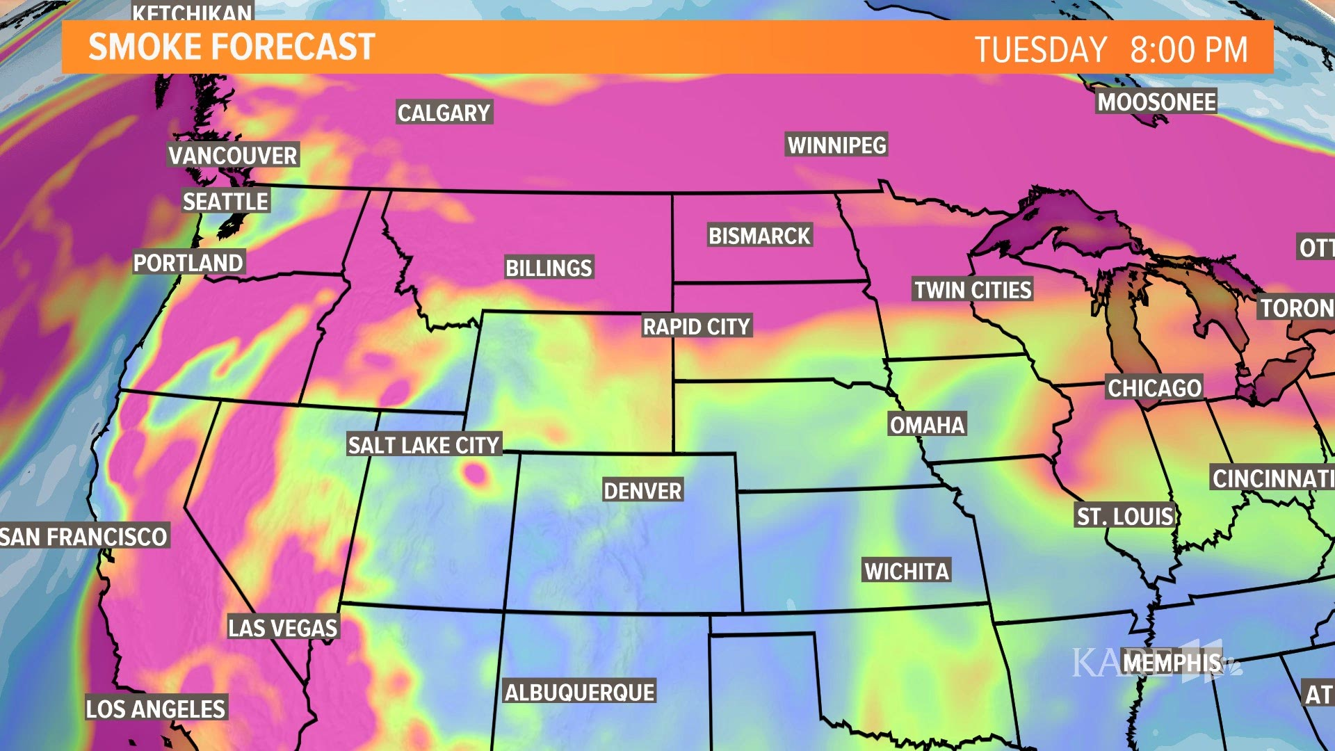 Uafsmoke is an initiative supported by the alaska. Smoke From West Coast Wildfire To Fill Sky Over Minnesota Kare11 Com
